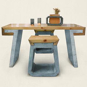 榫卯-木与石家具设计
