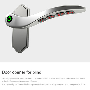 Door opener for blind