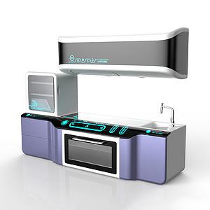 立体式厨房操作台设计