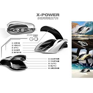 X-Power—水陆两用概念汽车设计