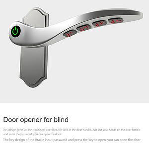 Door opener for blind
