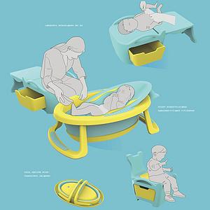 儿童浴盆套组成长性设计