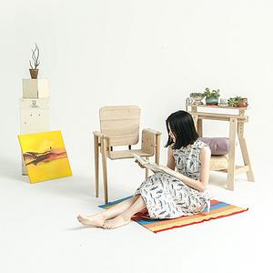 传统工艺创新——方便拼装的榫卯工作桌椅设计