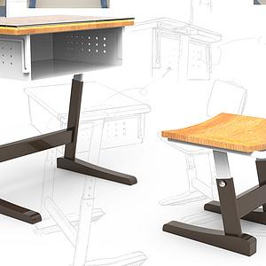 简艺——中小学生桌椅人性化设计