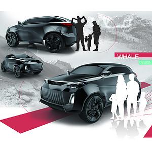 针对自驾游的概念智能休旅车造型设计