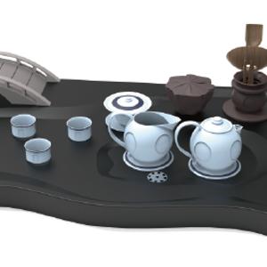西湖文创茶具设计