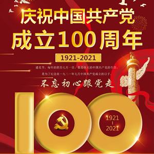党成立100周年海报