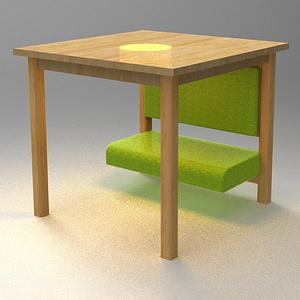 桌子下的小天地