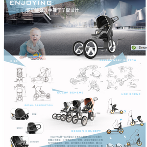 ENJOYING-多功能婴儿手推车毕业设计