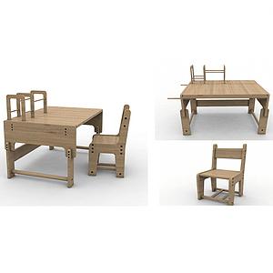 拼接式儿童桌椅设计