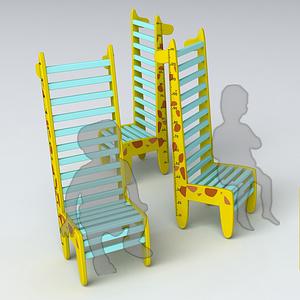 儿童身高测量椅