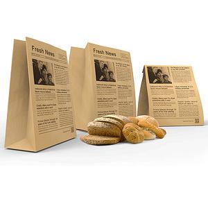 新闻面包袋