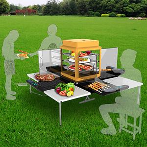 车载式烧烤架功能造型设计
