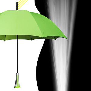 太阳能LED手电伞