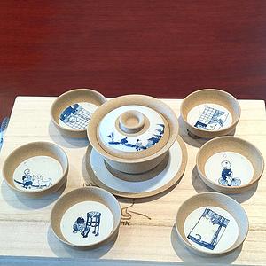 古典民俗手绘茶具