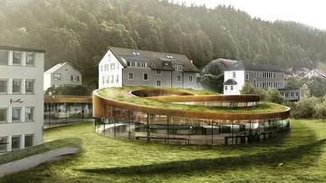BIG 新作'螺旋钟表博物馆',叙事性嵌入地景
